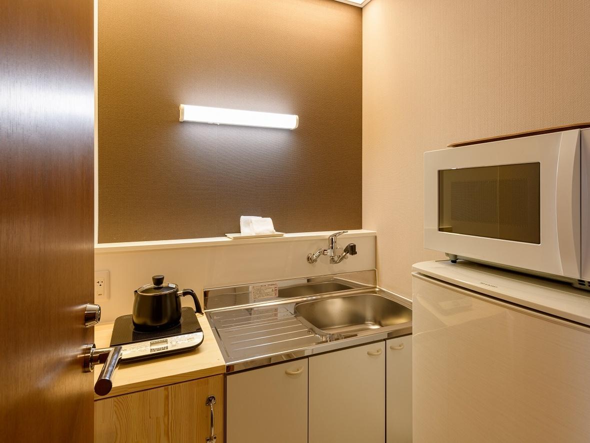 【ジュニアスイート(69㎡)】キッチン・調理家電・食器類も取り揃え長期滞在にお勧めです