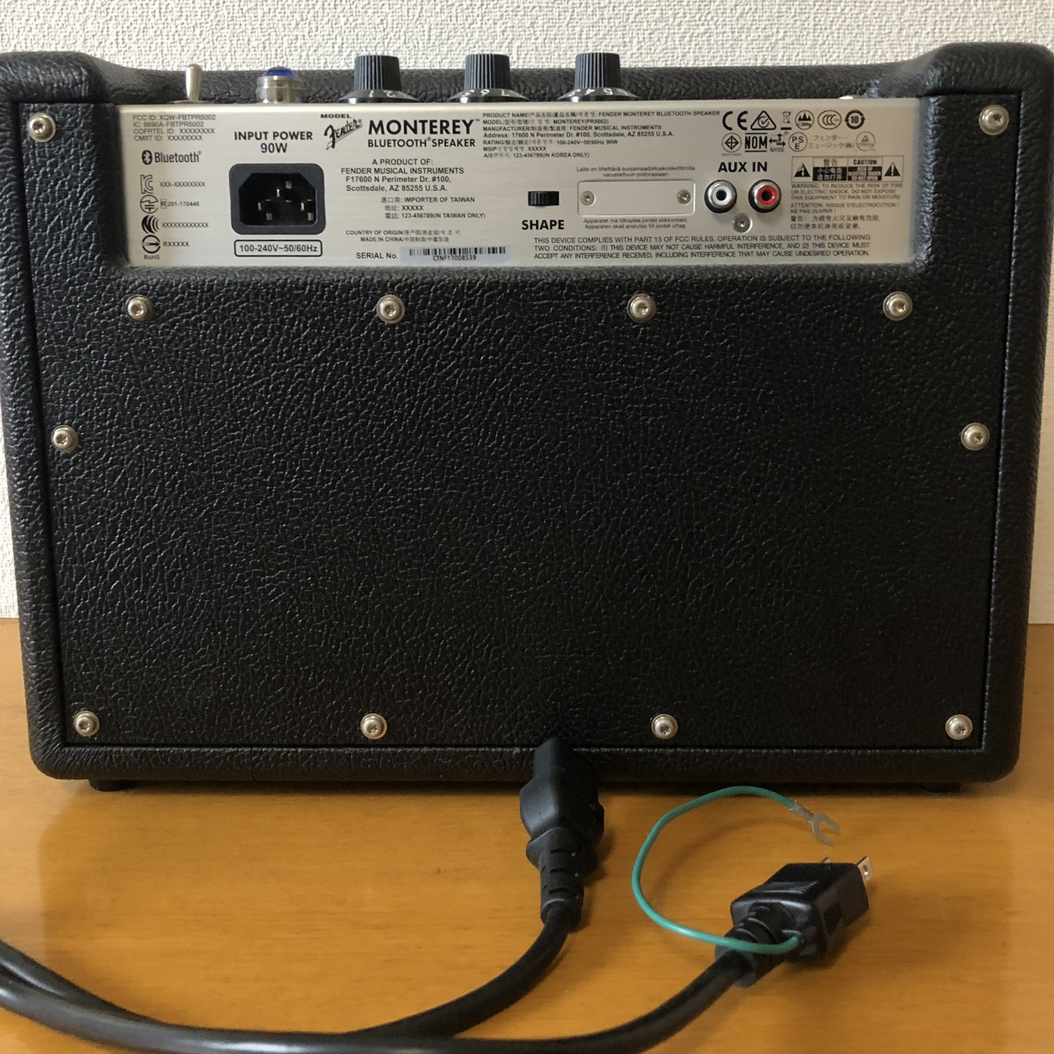 Fender Monterey Bluetoothスピーカー BLACKの商品写真