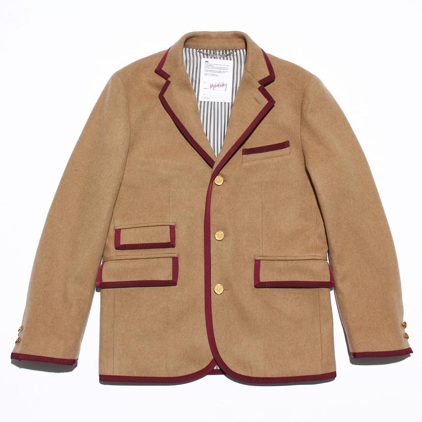 ライトブラウンのジャケット