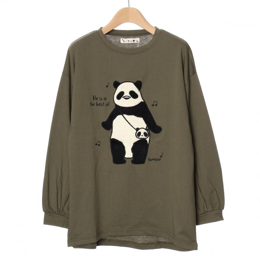 パンダのロングTシャツ
