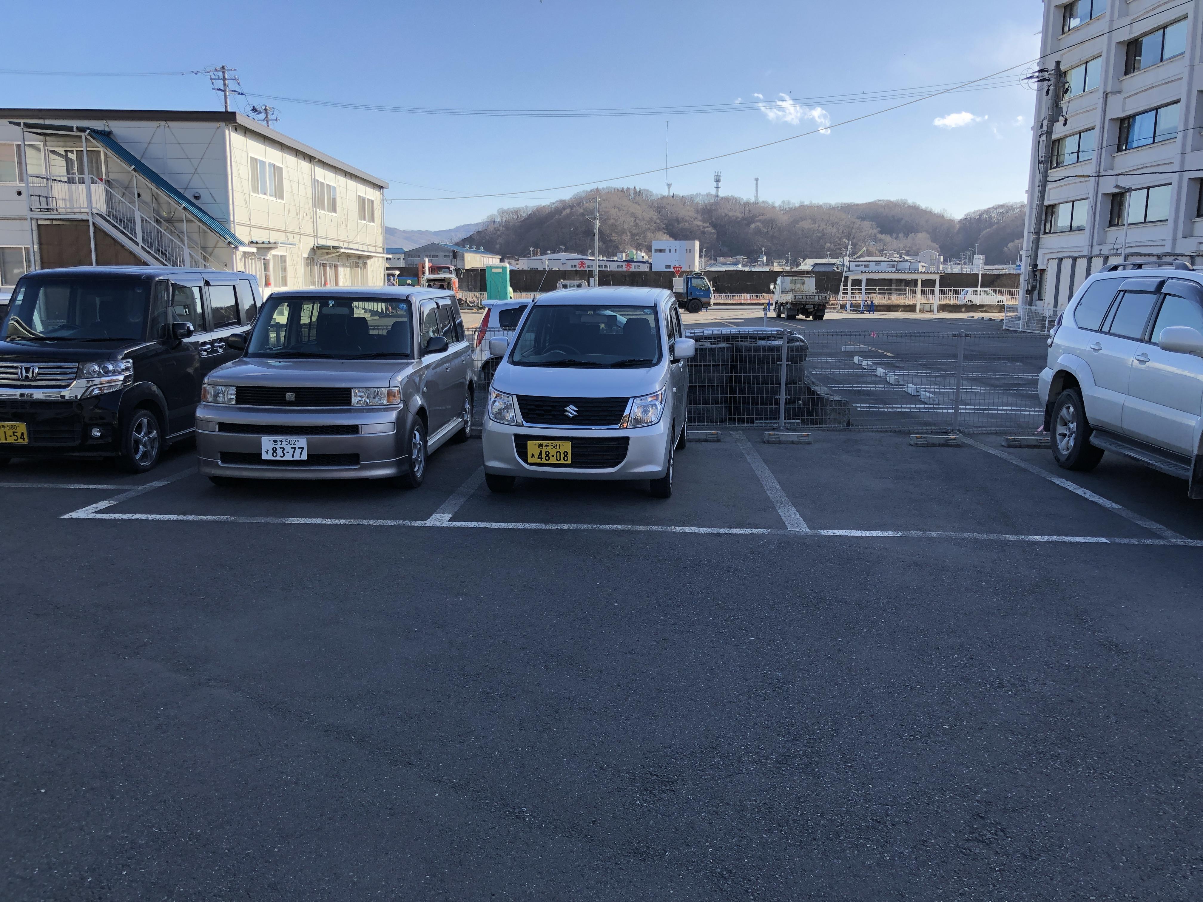 駐車可能なスペースの写真