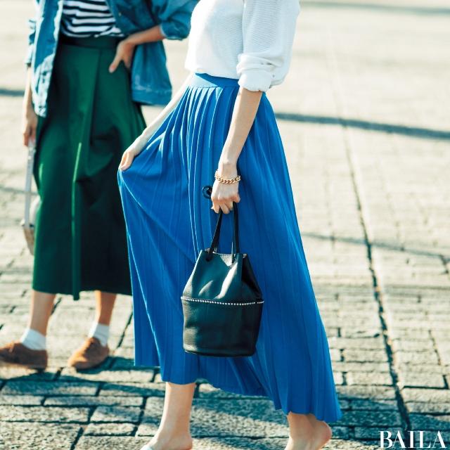 週末のわくわく感は【ビビッド色スカート】が連れてくる☆