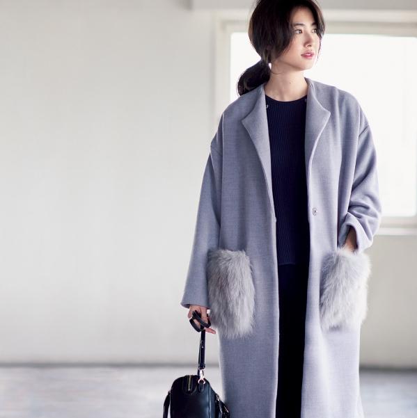 今年のコートは「淡い」が勝ち♥