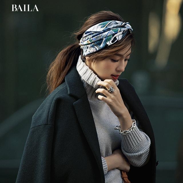 中村アンが着こなす♡気恥ずかしさゼロの【女子会スカーフ】コーデ
