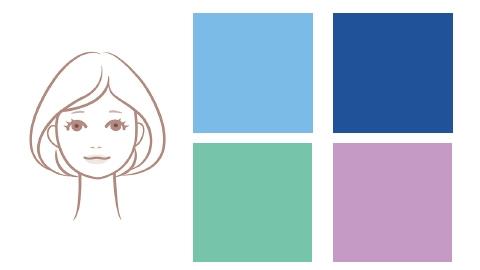 【ブルベ肌×女顔】さんの浴衣は、日本の花々や景色を連想させるカラーを
