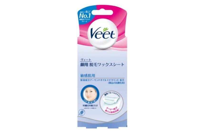 ヴィート(Veet)顔用脱毛ワックスシート敏感肌用