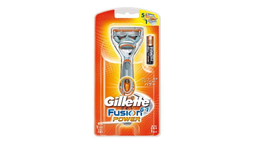 ジレット 髭剃り フュージョン5+1 パワー