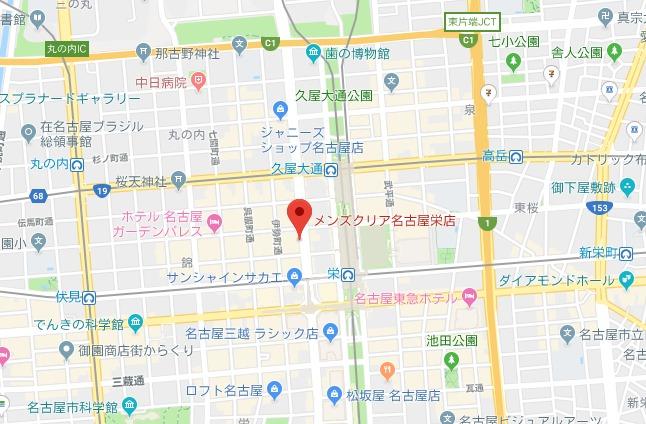 メンズクリア MAP