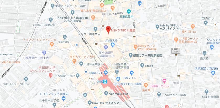 メンズTBC 川越モディ店の基本情報
