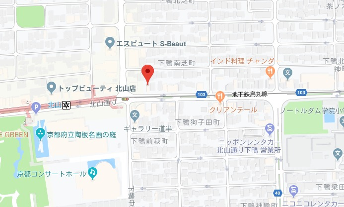 barber shop tete (テト)北山店 グーグルmap