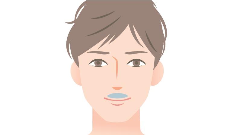 ②口ヒゲの整え方