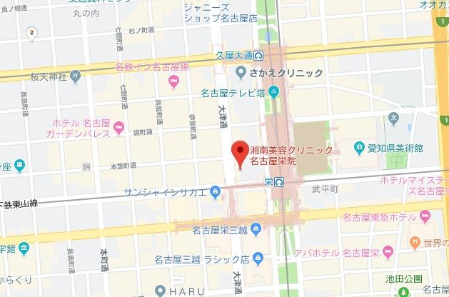 湘南美容クリニック 名古屋院・名古屋栄院 MAP
