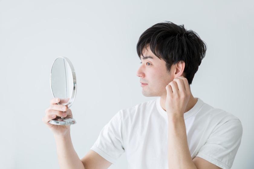 注意点④見えにくい部分は手鏡で確認する