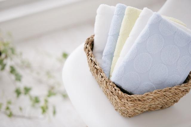 ⑤タオルで優しく水気を取る