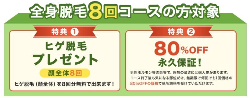 メンズクリア80%永久保証