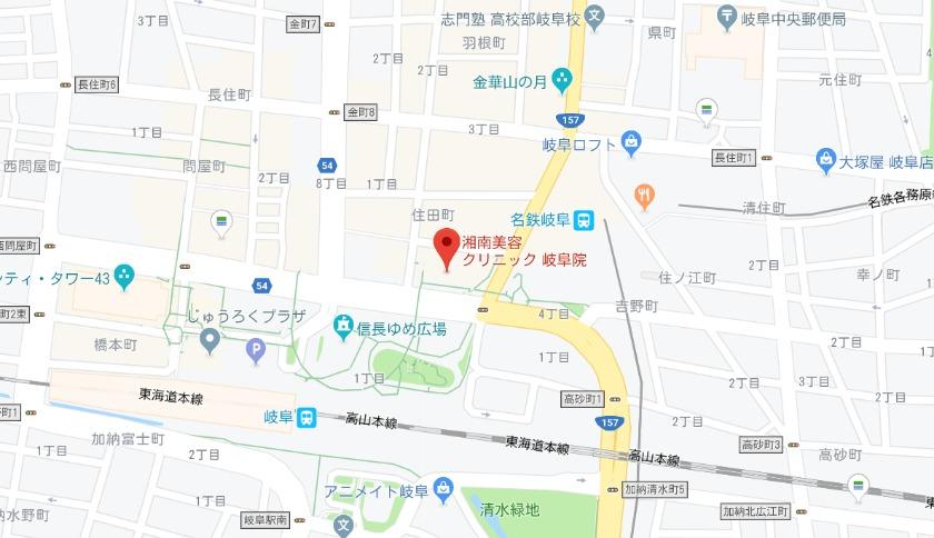 湘南美容クリニック 岐阜陰グーグルマップ