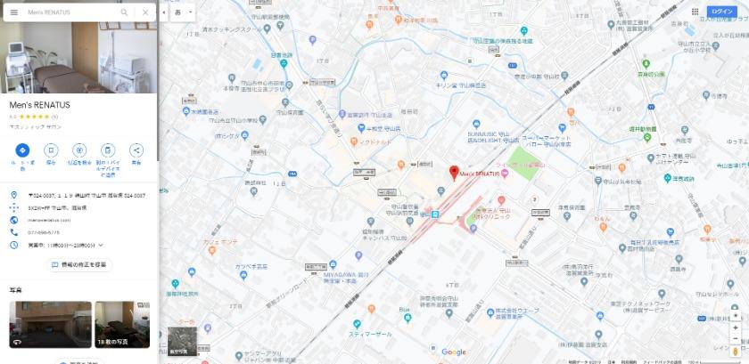 Men's RENATUS Googleマップ