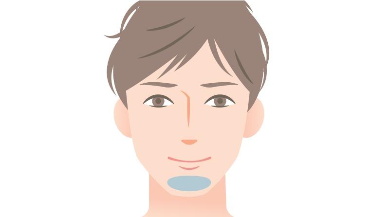 髭剃り方法STEP7: アゴや口周りの髭を剃る
