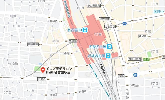 メンズ脱毛サロンFaith名古屋駅店 MAP