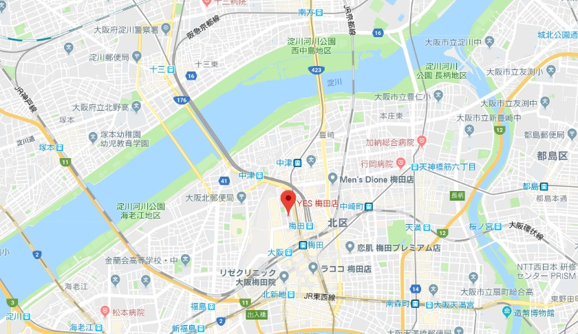 YES 梅田店の基本情報