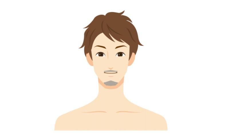 口髭と顎髭を伸ばすロワイヤル