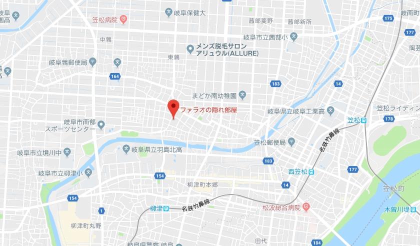 ファラオの隠れ部屋グーグルマップ