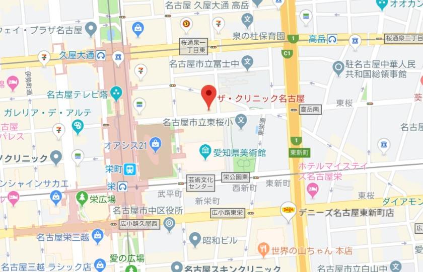 ザ・クリニック名古屋 MAP