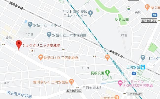 ジョウクリニック安城院 MAP