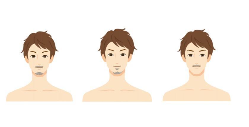 髭がまばらな人に最適な髭デザインの種類3選
