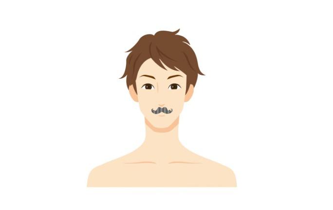 ③鼻下のみスタイル