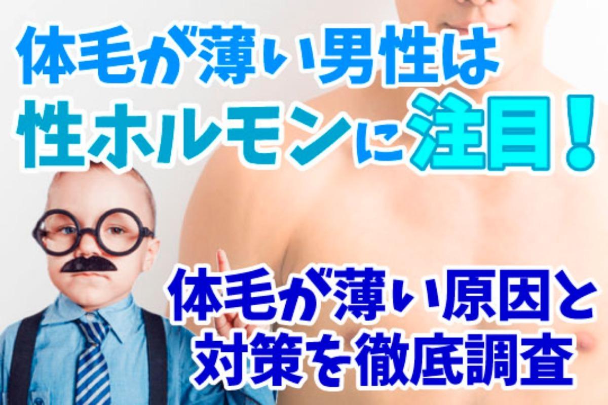 体毛が薄い男性は性ホルモンに注目!体毛が薄い原因と対策を徹底調査