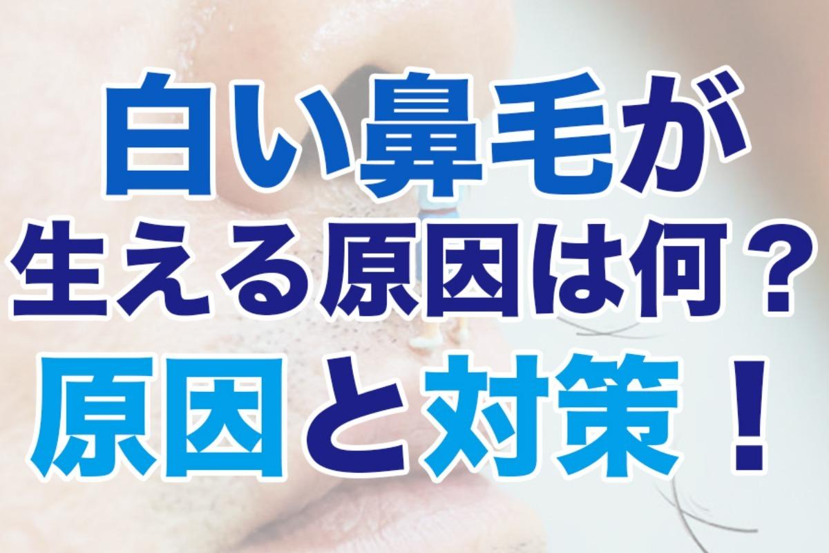 白い鼻毛が生える原因って何?8つの原因と白髪対策を徹底解説!