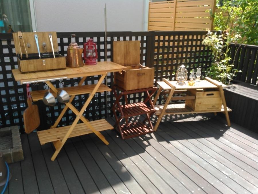 キャプテンスタッグの木製ラックがキャンプに便利!キッチン収納に役立つ