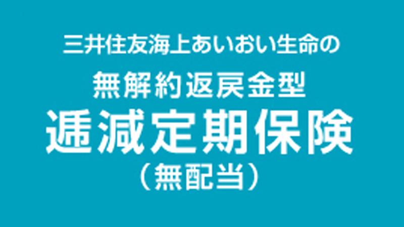 無解約返戻金型  逓減定期保険(無配当)