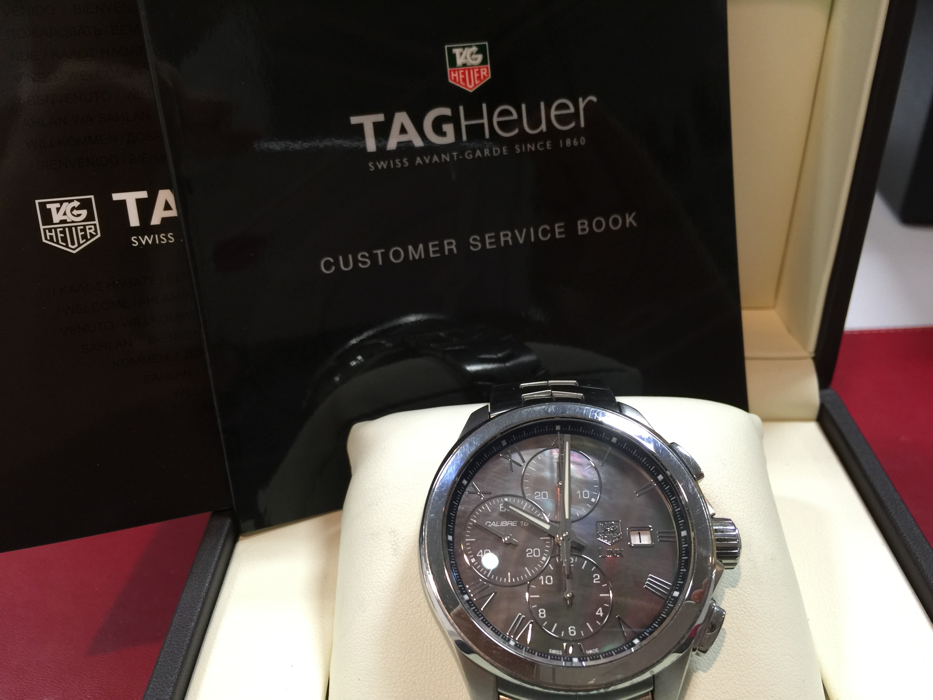 new concept e3e6e b926a タグホイヤー TAG HEUER リンク クロノグラフ 日本限定 CAT2014 ...