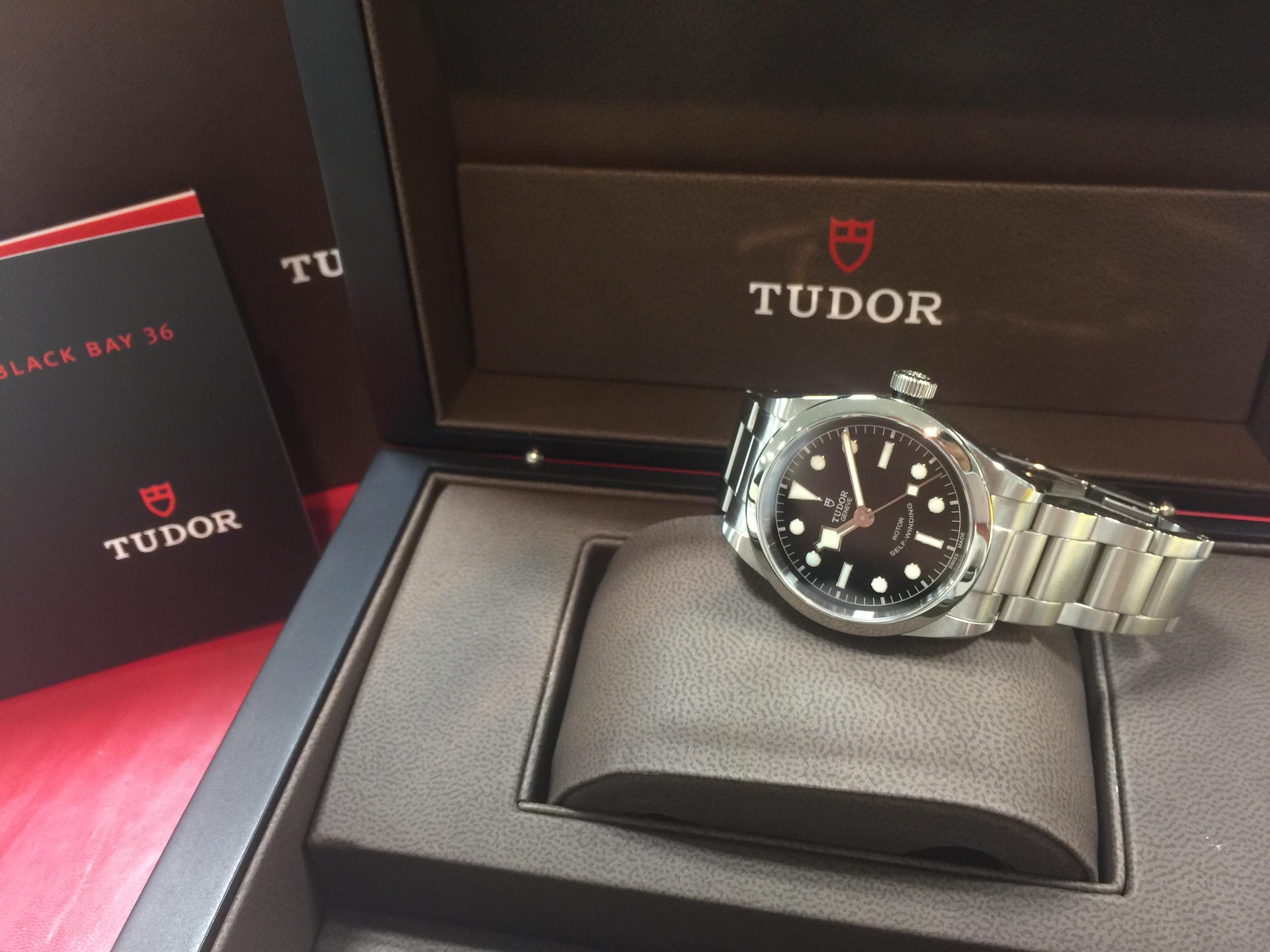 cheap for discount e08f6 1c47a チュードル TUDOR ブラックベイ 36 79500 | 時計の高価買取 ...