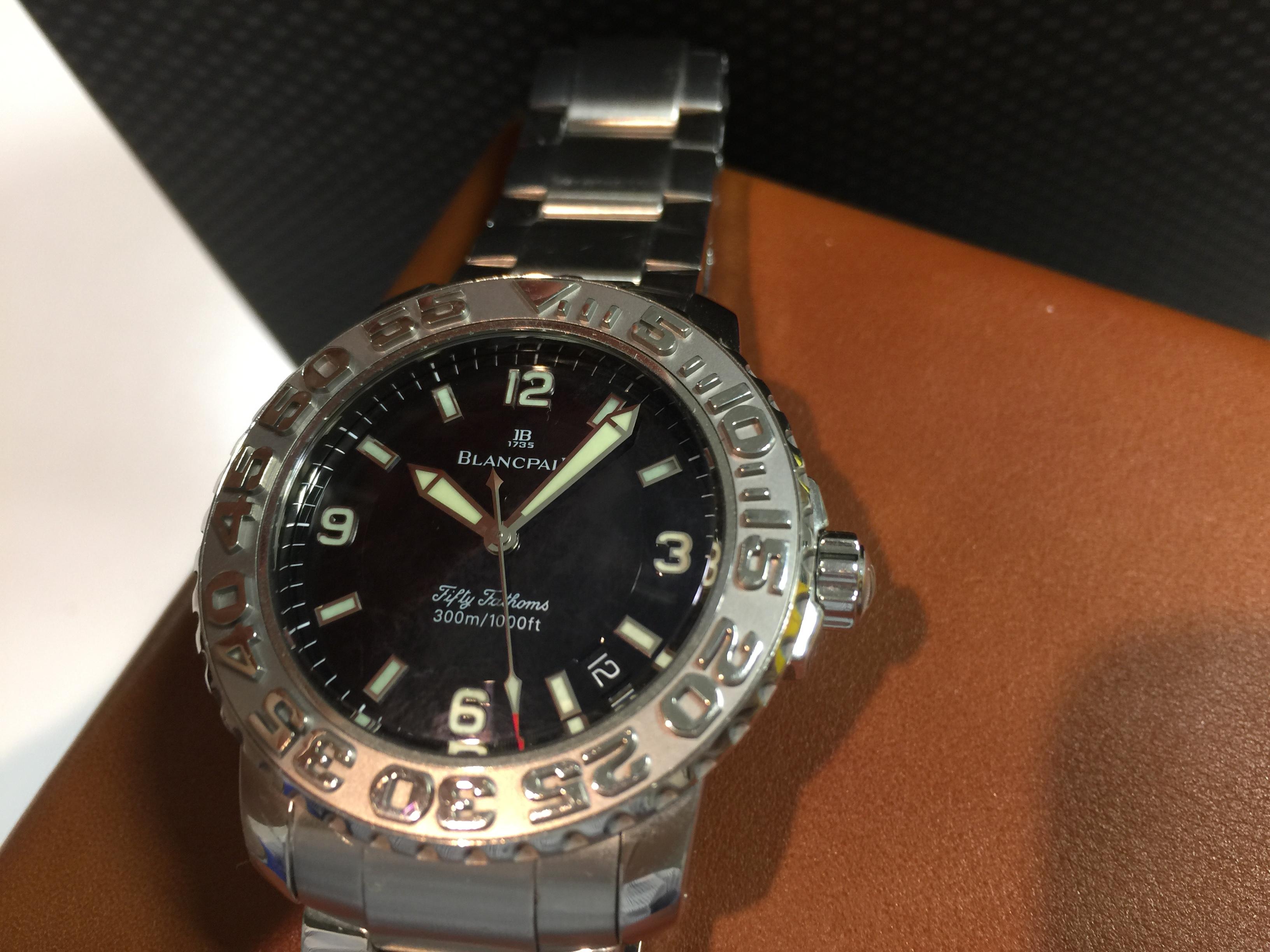 wholesale dealer 271c9 35834 ブランパン BLANCPAIN フィフティファゾムス   時計の高価買取 ...