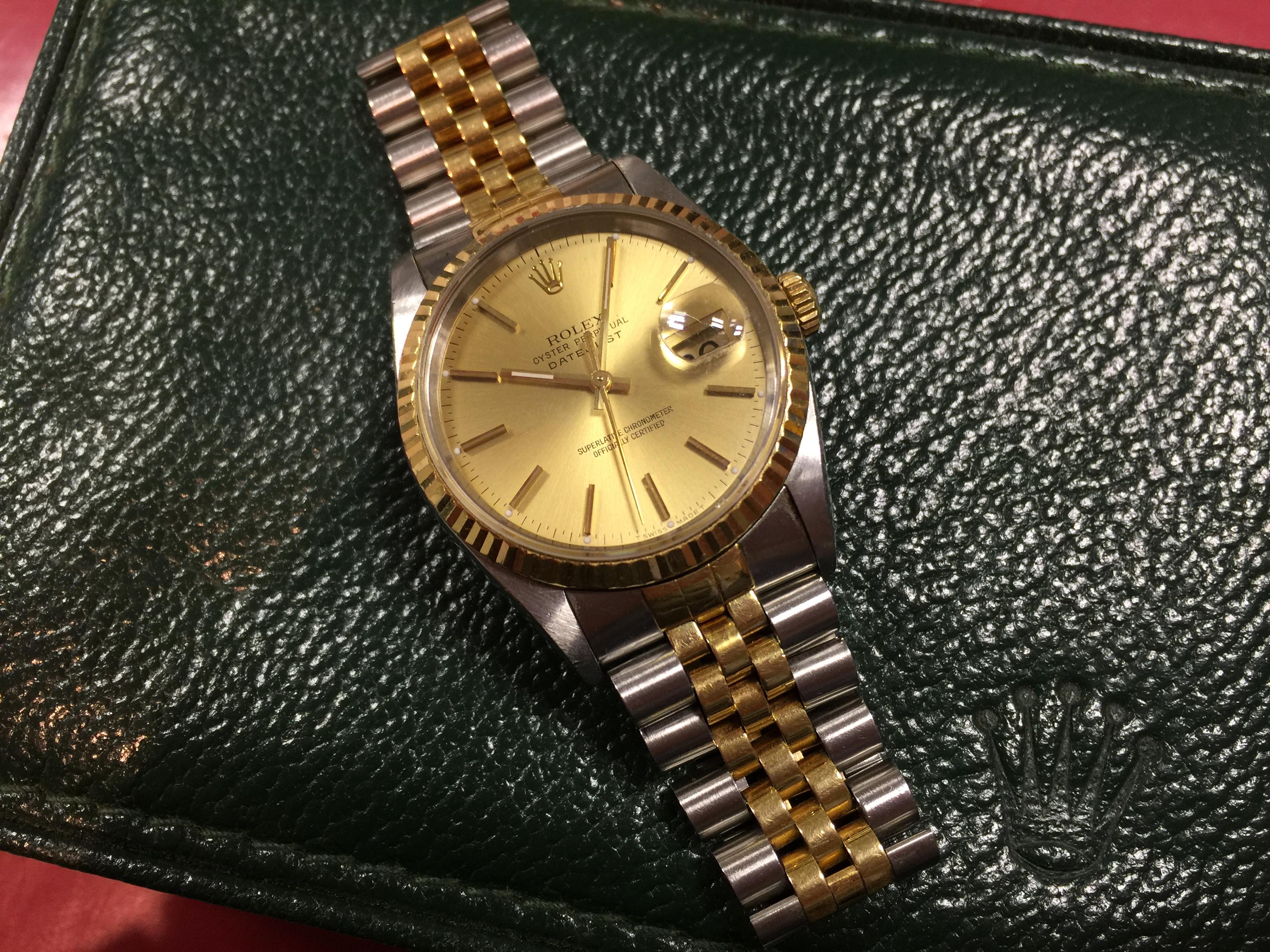 sports shoes 9a291 f828b ロレックス ROLEX デイトジャスト 16233 X番 | 時計の高価買取 ...