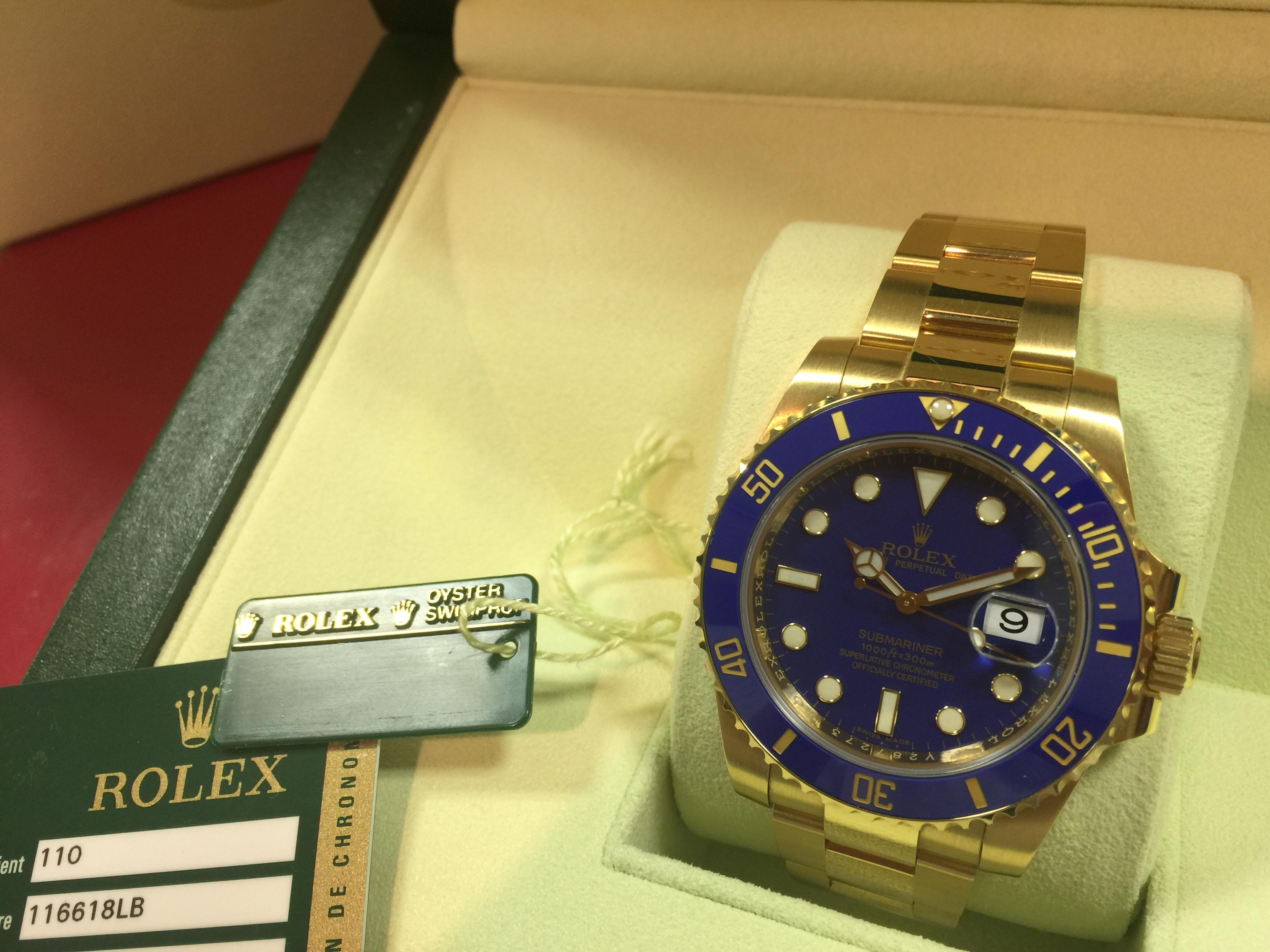 ロレックス ROLEX サブマリーナー 116618LB V番