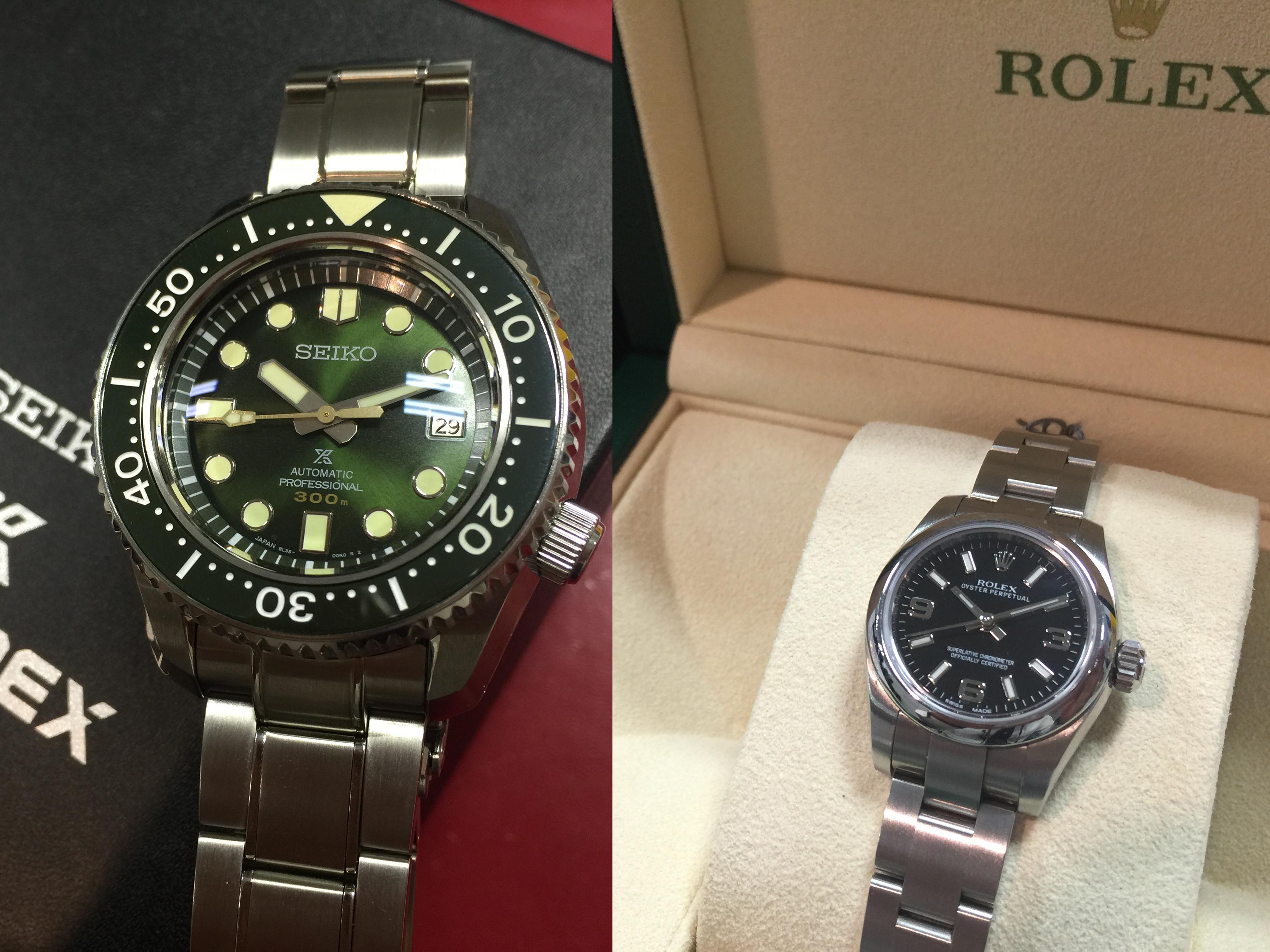 ロレックス ROLEX オイスターパーペチュアル 176200 , SEIKO メカニカルダイバーズ50周年 SBDX021