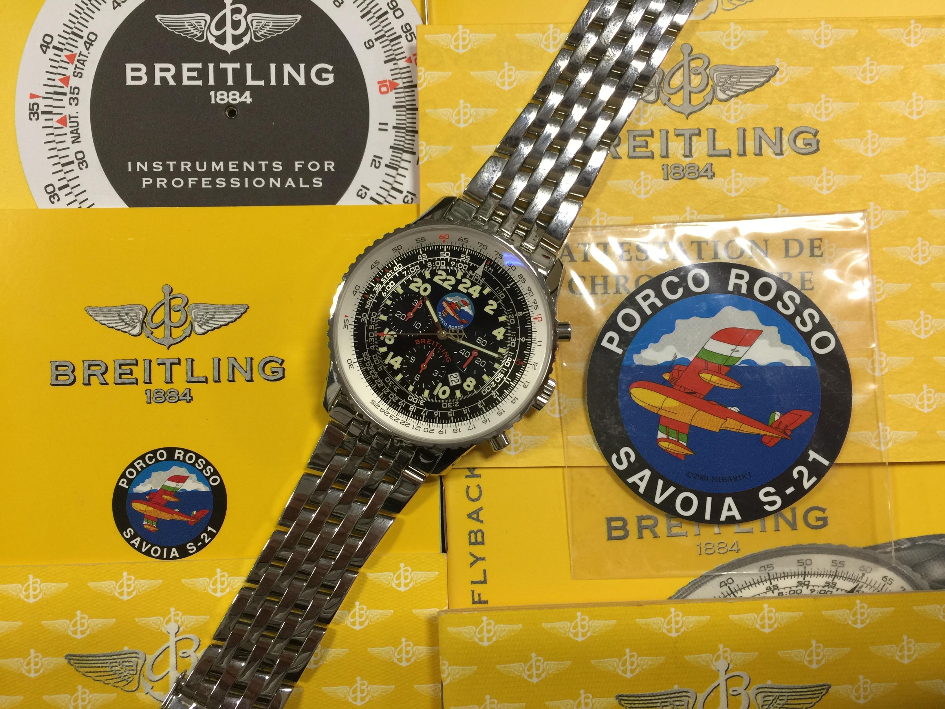 ブライトリング BREITLING コスモノート ポルコロッソ A222BPENP A22322