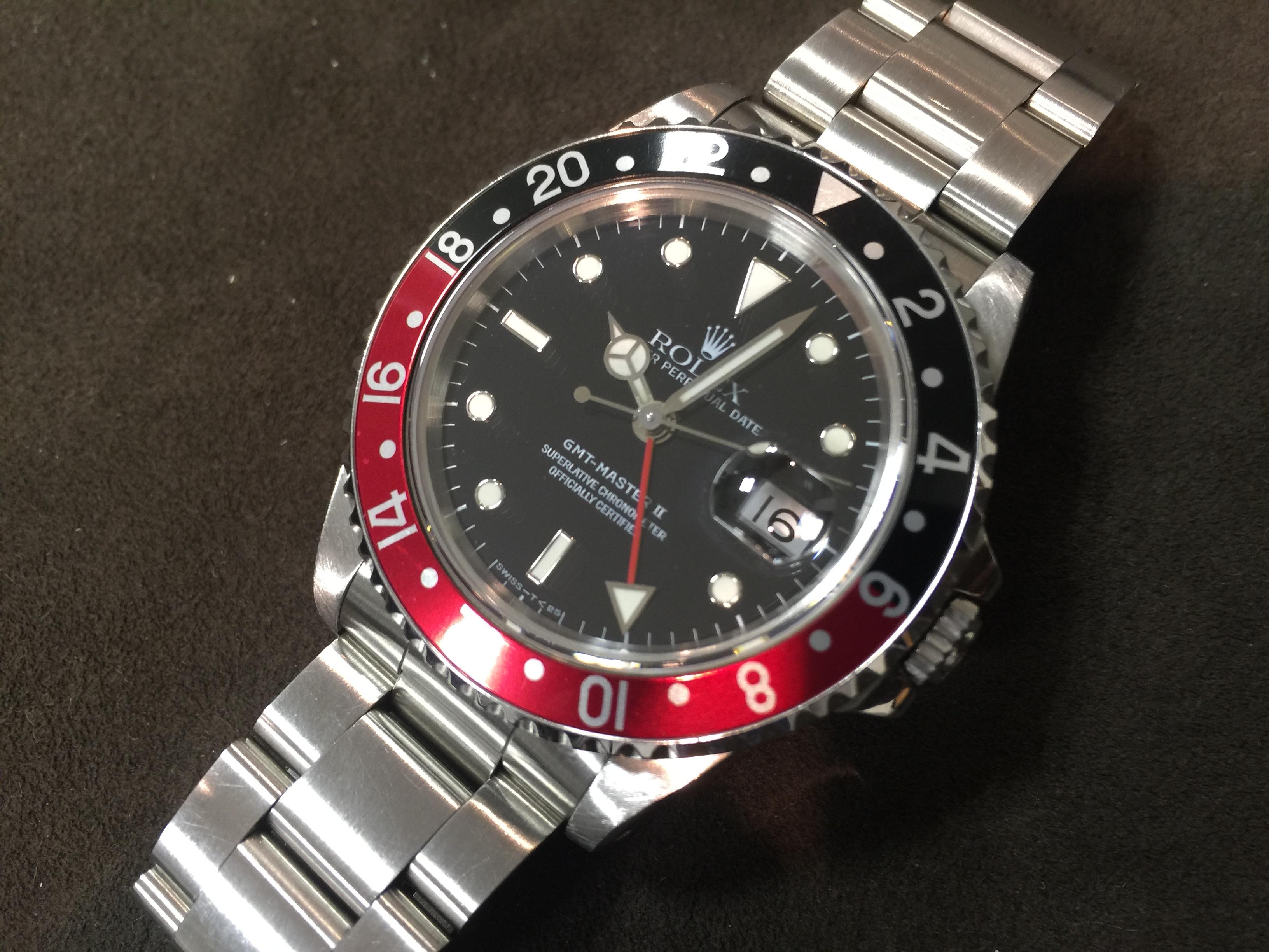 ロレックス ROLEX GMTマスターⅡ 16710 S番