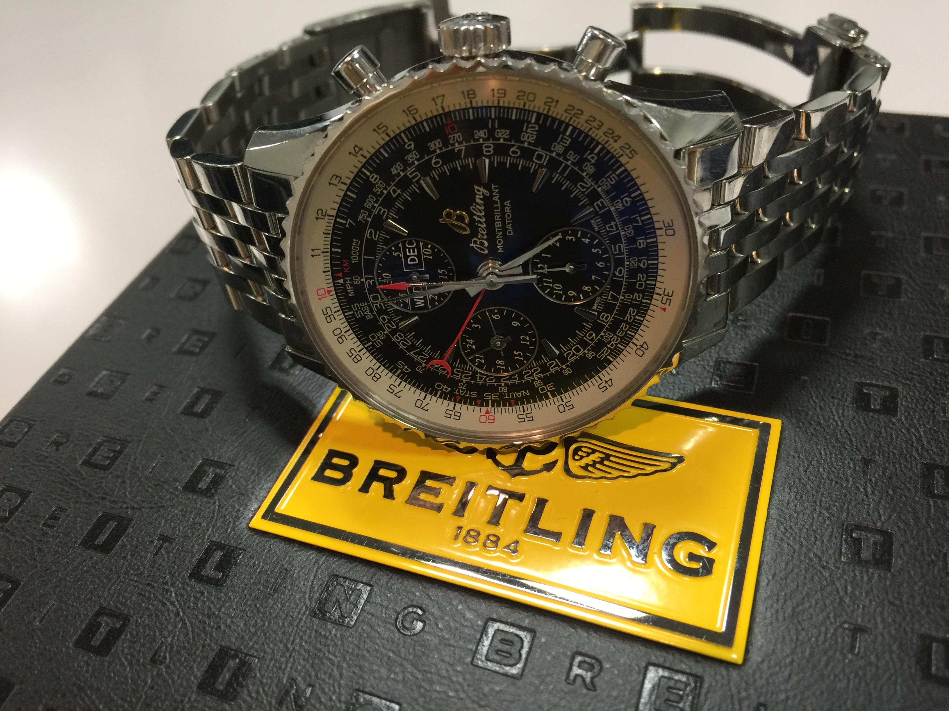 the latest 148be 1a1c1 ブライトリング BREITLING モンブリランダトラ A21330   時計の ...