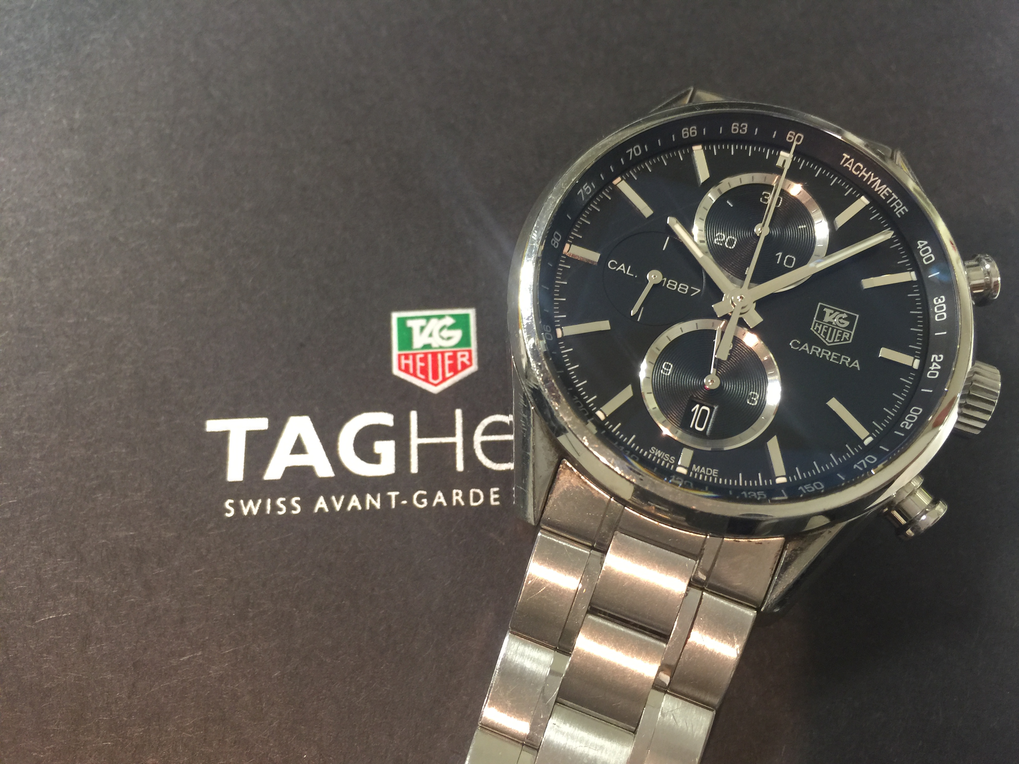 official photos 70037 2a028 タグホイヤー TAG HEUER カレラ1887 クロノグラフ CAR2110 ...