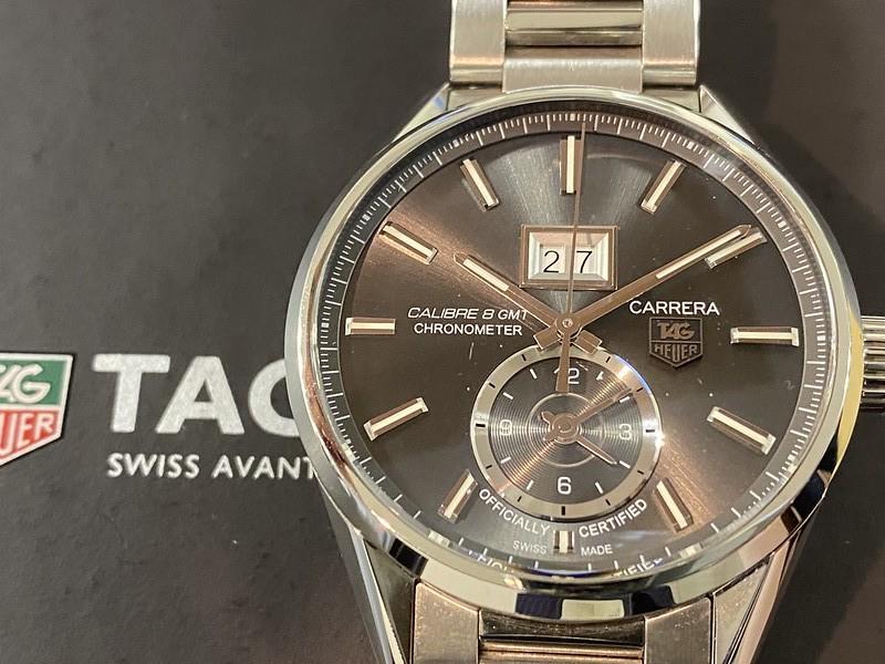 タグホイヤー TAG HEUER カレラ キャリバー8 GMT WAR5012.BA0723