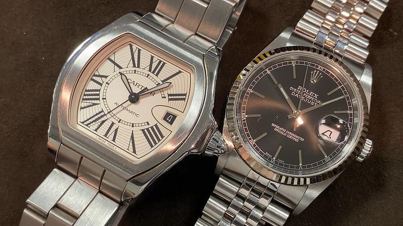 ロレックス ROLEX デイトジャスト 16234 , カルティエ ロードスターS W6206017