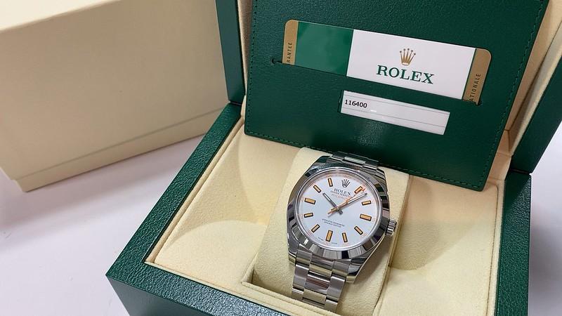 ロレックス ROLEX ミルガウス 116400 白 ランダム
