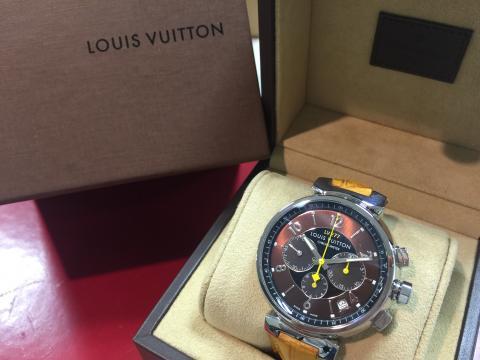ルイヴィトン LOUIS VUITTON タンブールクロノ LV277 Q11410