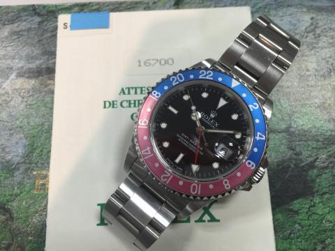 ロレックス ROLEX GMTマスター 16700 S番