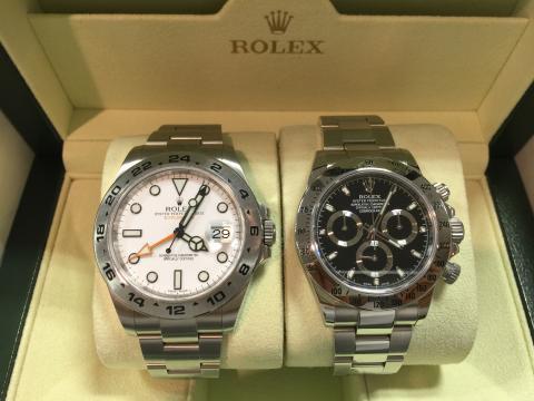 ロレックス ROLEX デイトナ 116520 , エクスプローラーⅡ 216570